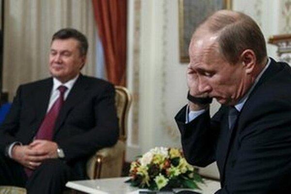 Viktor Janukovyč a Vladimír Putin.
