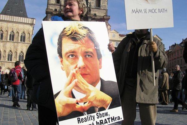 David Rath na protestnom plagáte.