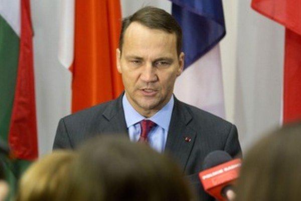 Poľský minister Radoslaw Sikorski.