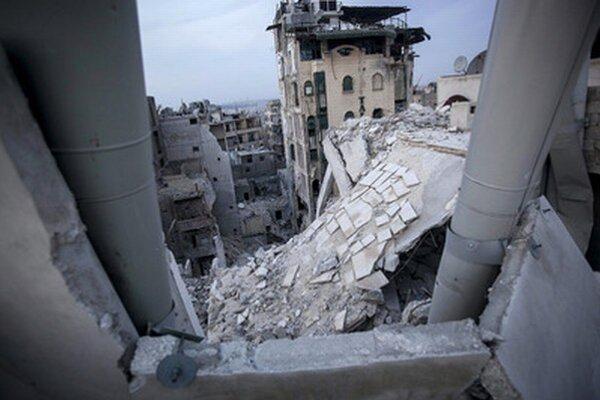 Zničené historické Aleppo.
