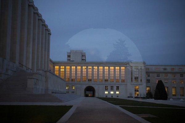 Miesto mierových rozhovorov v Ženeve.