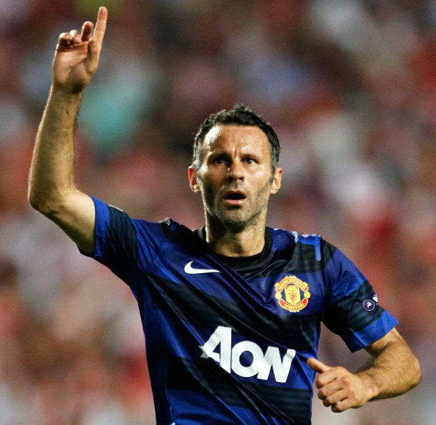 Ryan Giggs je legendou Manchestru United.
