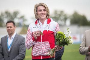 Lucia Hrivnák Klocová si prebrala bronzovú medailu za šampionát v Barcelone 2010.
