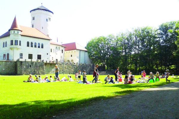 Areál Budatínskeho hradu.