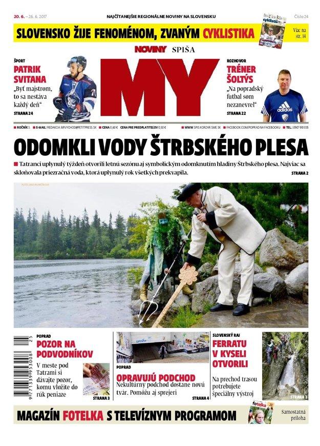 Titulka Novín Spiša.