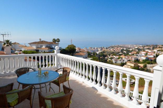 Pohľad na more z Costa del Sol.