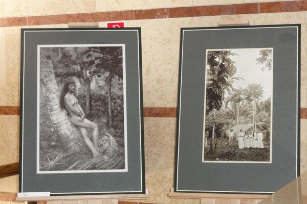 Štefánikove fotografie z Tahiti, vľavo slávna snímka Tahiťanka.