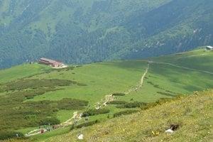 Cesta na vrchol Veľkého fatranského Kriváňa.