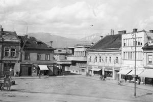 Námestie Andreja Hlinku vroku 1942. FOTO: ARCHÍV (MJK)
