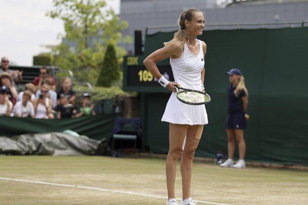 Radosť Magdalény Rybárikovej po postupe do osemfinále.