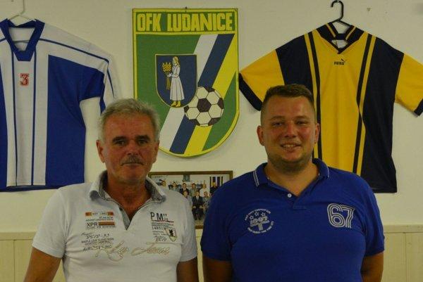 Funkcionári Vladimír Čerňan aAndrej Štaffen – strojcovia úspechu OFK Ludanice.