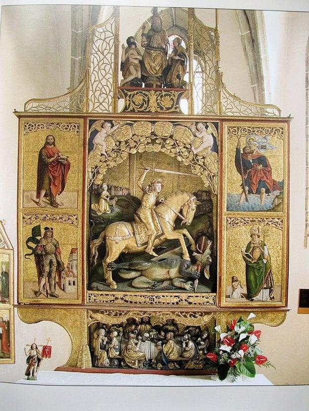 Spišská Sobota. Oltár Sv. Juraja.