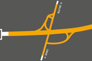 Mapa D1 Blatné.