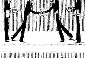 Vlasta Zábranský (1936 – 2029*) je maliar, grafik, ilustrátor, karikaturista, aforista, žije v Brne. Uverejnená kresba je z prvého čísla Roháča po potlačení kontrarevolúcie v roku 1968.