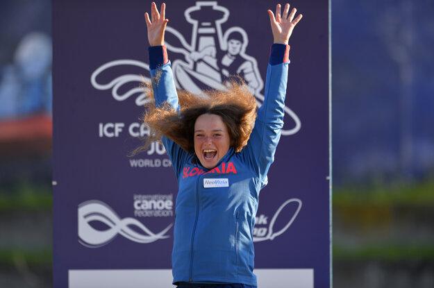 V piatok Soňa Stanovská oslavovala zisk striebornej medaily v C1 žien.