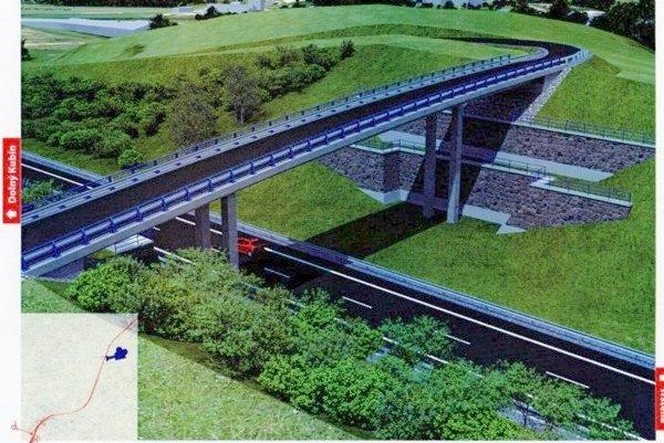 Most na preložke poľnej cesty nad rýchlostnou cestou R3 Tvrdošín - Nižná.