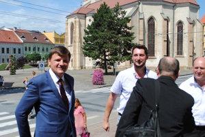 Predseda KDH Alojz Hlina v Prešove.