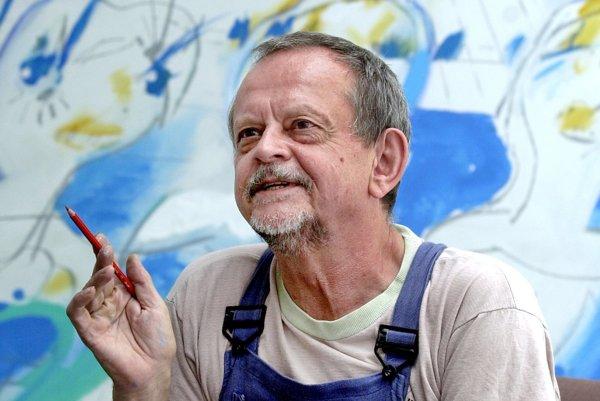 Výtvarník Vladimír Popovič prišiel vo Valticiach o obraz Bez názvu.