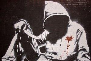 Banksyho autoportrét.