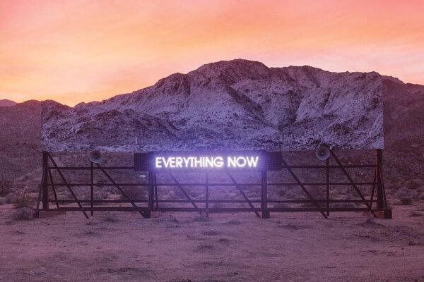 Obal nového albumu kanadskej kapely Arcade Fire s názvom Everything Now.