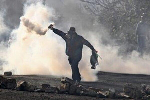 Palestínsky demonštrant.