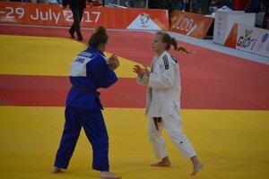 Alexandra Halajová v zápase.