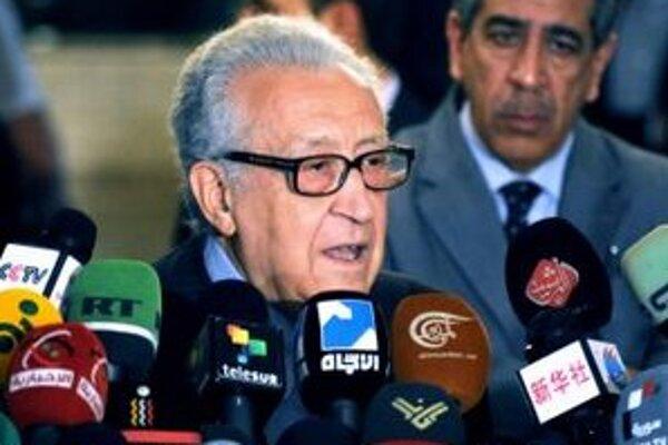 Medzinárodný mierový vyslanec pre Sýriu Lachdar Bráhímí.