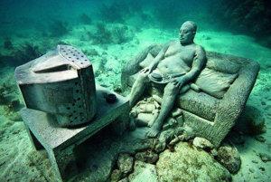 Podmorské múzeum pri Cancúne.