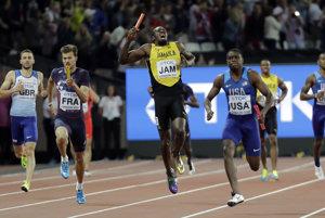 Usain Bolt mal bolestivú grimasu.