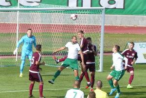 Situácia pred prvým gólom Skalice.