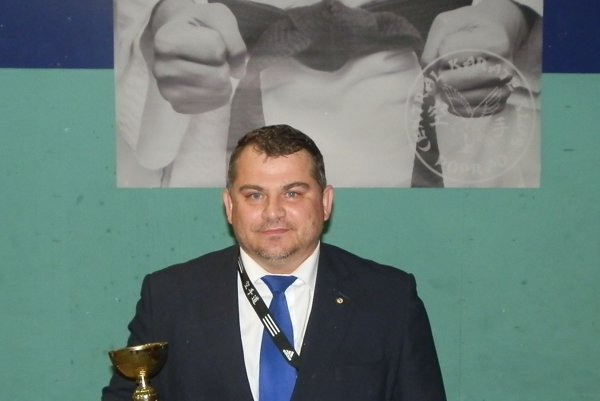 Prezident itréner KŠK Stará Ľubovňa František Vorobeľ.