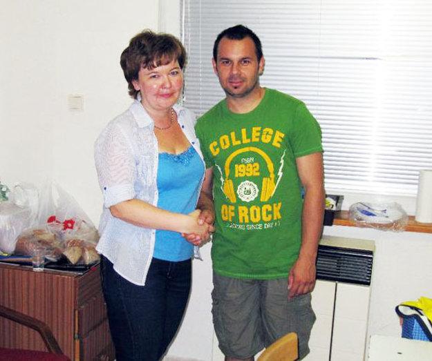 Na archívnej fotke s Martinom Slovákom, šéftrénerom mládeže v Čeľadiciach.
