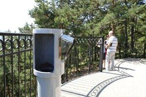 Návštevníci vyhliadky sa musia spoľahnúť iba na svoj zrak.