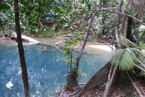 Modrá lagúna.