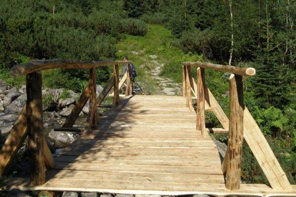 Pohľad na nový most hneď pri Žiarskej chate. FOTO: (HZS)