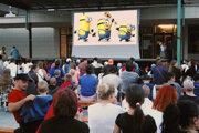 Premietanie filmov pod holým nebom sa stalo v Čadci už tradíciou.