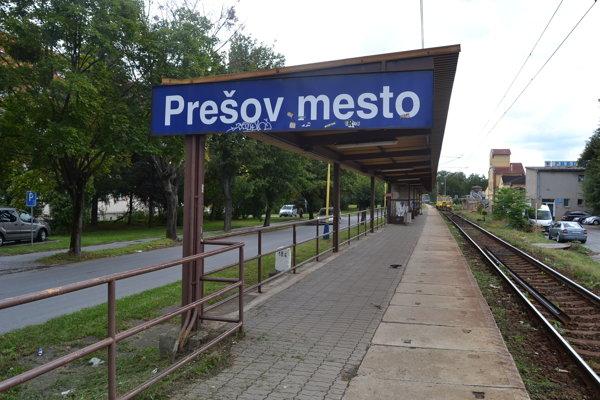 Železničná zastávka Prešov mesto.