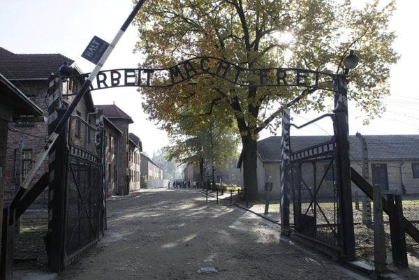 Koncentračný tábor Auschwitz v Poľsku.