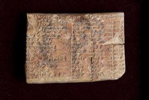 najstaršia trigonometrická tabuľka Plimpton 322.
