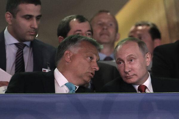 Viktor Orbán a Vladimir Putin.