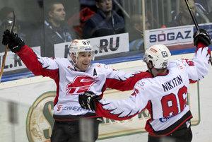 Radosť hráčov Avandgardu Omsk. Ilustračné foto