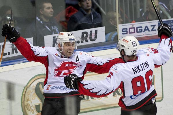 Radosť hráčov Avandgardu Omsk - ilustračná fotografia.