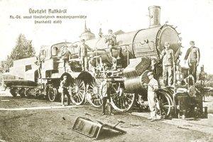 Hlavné dielne vo Vrútkach. Mesto s príchodom železnice zažívalo veľký rozmach.