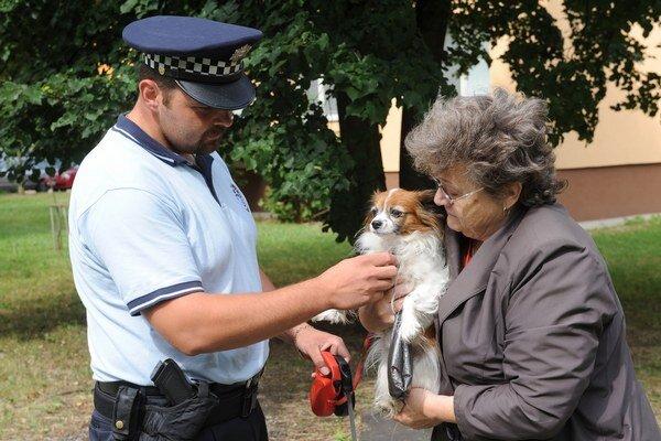 Mestskí policajti musia riešiť aj nezodpovedných psíčkarov.