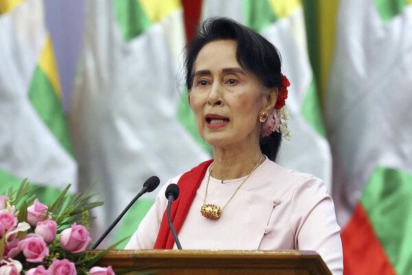 Mjanmarská vodkyňa Aun Schan Su Ťij.