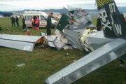 Spadnuté lietadlo.
