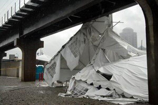 Zničený stan.