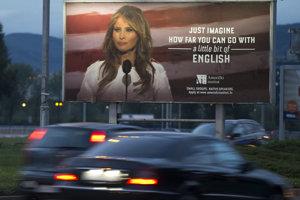 Bilbord, ktorý sa nepáči Melanii Trumpovej.