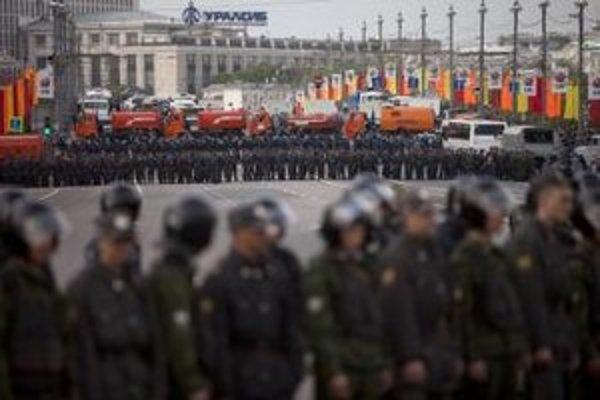 Protest v Moskve.