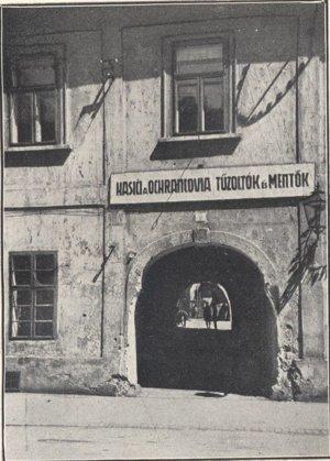 Stará hasičská kasáreň na Kováčskej ulici.